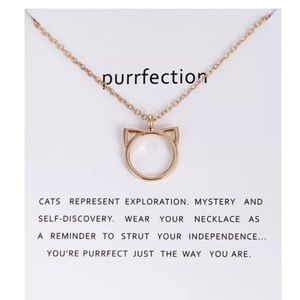 Jewelry - 5 for $25 Gold Color Cat Pendant Necklace
